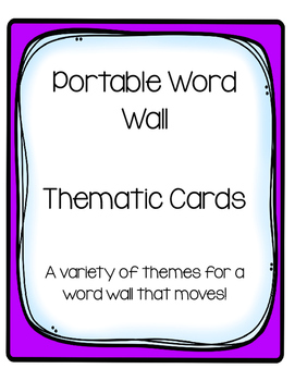 Portable Word Walls/Theme Cards