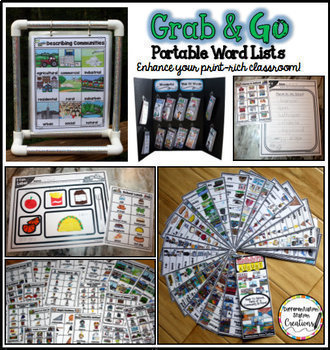 Word Wall: Year Long Thematic Word Walls GROWING BUNDLE