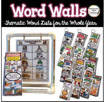 Word Wall Bundle: Monthly Word Walls Whole Year, Thematic Printables