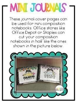 Portada para Cuaderno de Escritura (Writing Journal Cover Page in Spanish)