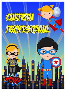 Portadas para carpeta profesional - Motivo Súper Héroes