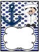 Portadas para carpetas profesionales editable nautical