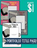 Portfolio Title Page