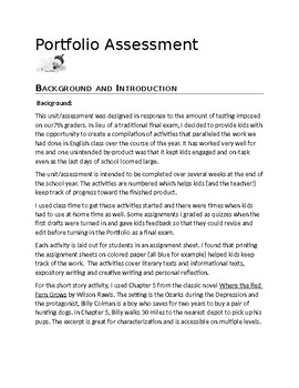 Portfolio Assessment: An Alternate to a Final Exam in English 7