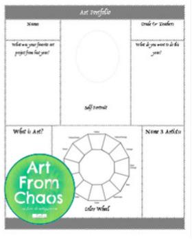 Portfolio Cover; Art Pre-test