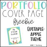 FREEBIE Portfolio Cover Page  *editable*