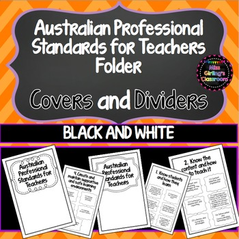 Portfolio Covers (B&W) -Australian Professional Standards for Teachers