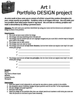 Portfolio Design Project - Art I