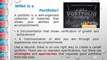 Portfolio Development: It's Not Just For Artists
