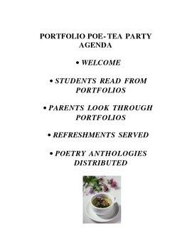 Portfolio Poe-tea Party Agenda