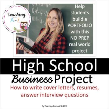 Portfolio Project: cover letters, resumes, interview quest