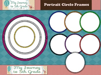 Portrait Circle Frames- Clip Art