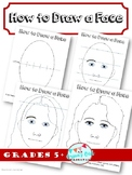 How to draw a face; facial proportions