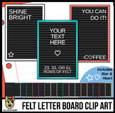 Portrait Letter Boards Clip Art | Black Felt | ADD YOUR OW