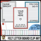 Portrait Letter Boards Clip Art | White Felt | ADD YOUR OW