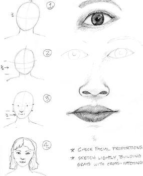 Portrait Practice Sheet