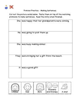 Portrait of Pronouns Packet