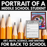 All About Me - Middle School - Back to School - Math, Science, Art, and Writing!