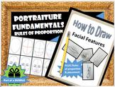 Portraits / Portraiture: Draw Facial Features w/ Proportion, Printables & Videos