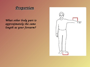Portraits Proportion PowerPoint Presentation:  Middle or High School Art Lesson