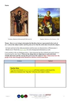 Portraits and Culture - Art History mini-lesson