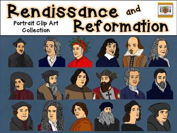 Portraits in History- Renaissance, Enlightenment, and Reformation Clip Art