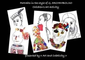 Portraits in the style of G. ARCHIMBOLDO - Children's art activity