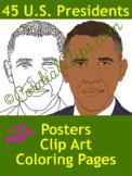 President Bundle Clip Art of All 45 US Presidents - CC Cat