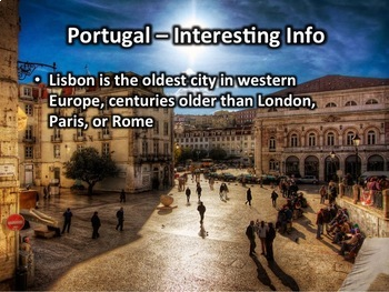 Portugal PowerPoint - Geography, History, Government, Economy, Culture, and More
