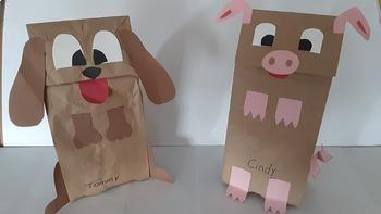 Português- Marionetes/Puppets de papel super simples