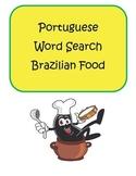 Portuguese Brazilian Food Word Search Puzzle