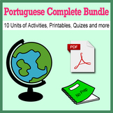 Portuguese Bundle for Smart Teachers 10 beginner units ☆147+☆ NO PREP printables