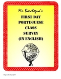 Portuguese Class First Day Student Survey