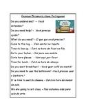 Portuguese Classroom Cheat Sheet