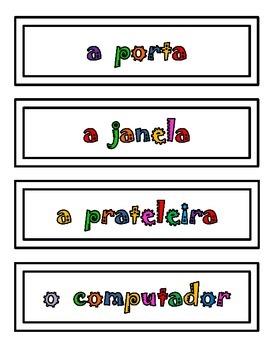 Portuguese Classroom Labels