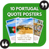 Portuguese Classroom Posters - 10 Quotes About Portugal for Bulletin Boards