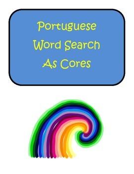 Portuguese Colors Cores Word Search Puzzle