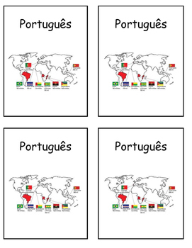 Portuguese Speaking Countries Map Interactive Notebook Print and Paste