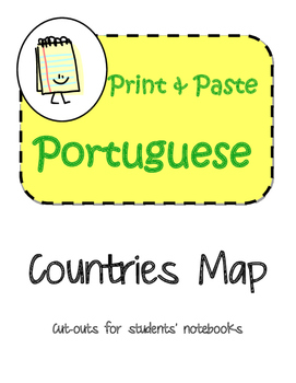 Portuguese Speaking Countries Map Interactive Notebook Pri