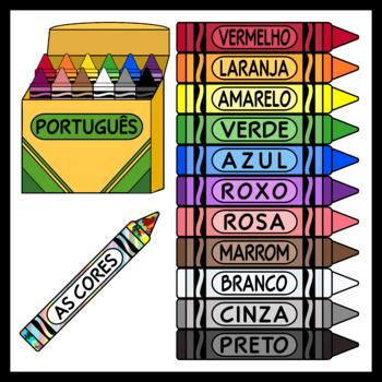 Portuguese Crayons / Portuguese Colors (High Resolution)