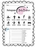 Portuguese Daily Routine Worksheet Packet
