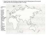Portuguese Empire Map Activity