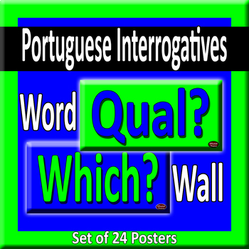 Portuguese & English Question Words/Interrogatives Word Wall