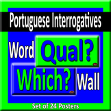 Portuguese & English Question Words/Interrogatives Word Wall Posters
