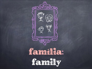 Portuguese Family & Relatives Words PowerPoint
