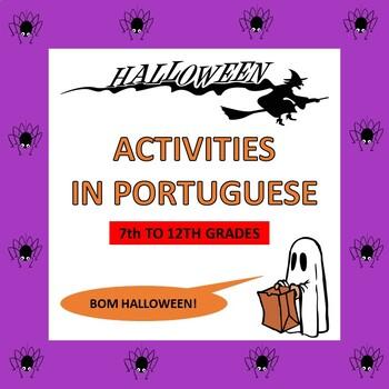 Portuguese Halloween Activities O Dia Das Bruxas 7th To 12th Tpt
