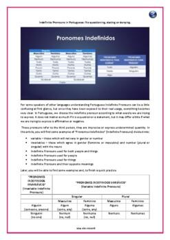Portuguese Indefinite Pronouns