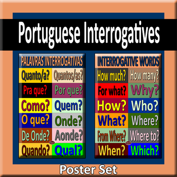 Portuguese Interrogatives Poster Pair