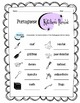 Portuguese Kitchen Items Worksheet Packet