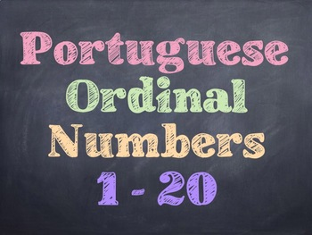 Portuguese Math Ordinal Numbers PowerPoint